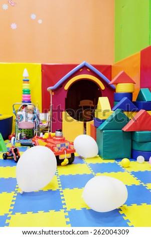 Empty children's playroom - stock photo