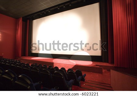 empty cinema auditorium