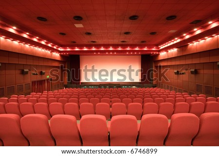 empty cinema auditorium - stock photo