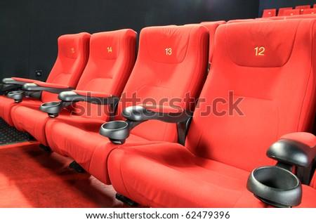 Empty cinema seats - stock photo