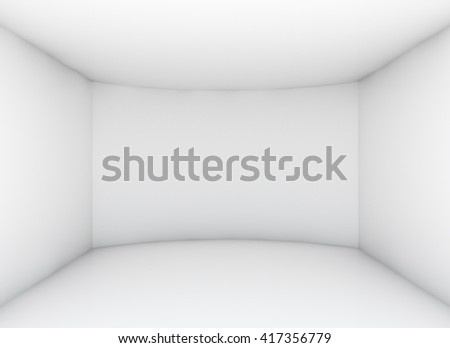 Empty clean room for exhibition product. Business or web template. 3d rendering - stock photo