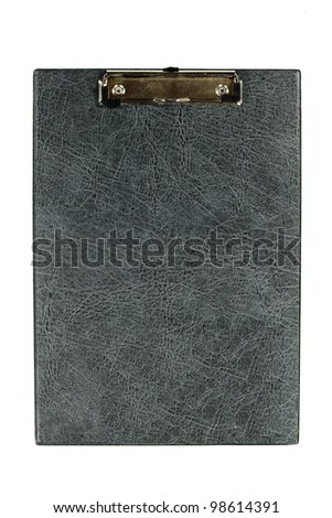 Empty clipboard isolated on white background - stock photo