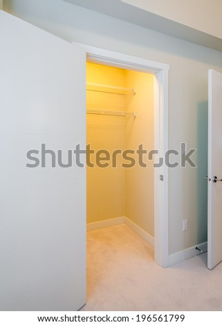 Attractive Empty Closet, Working Closet, Cupboard In Bedroom.