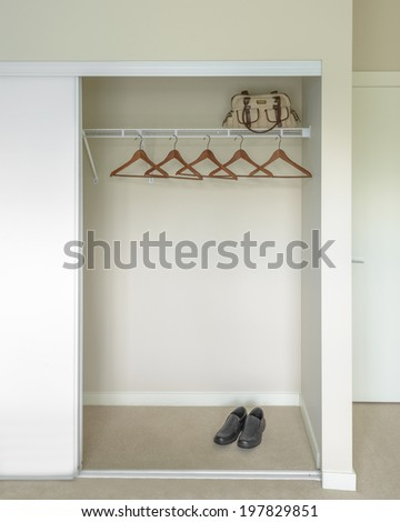 Empty Closet Working Cupboard In Bedroom