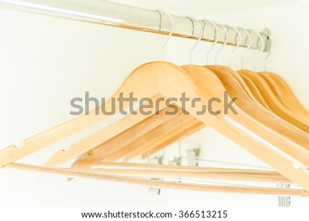 Empty Clothes Hanger In Closet