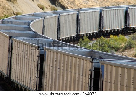 Empty Coal Train - stock photo