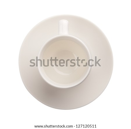 Empty coffee cup isolated on white background - stock photo