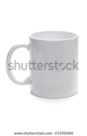 Empty coffee cup. Isolated on white background
