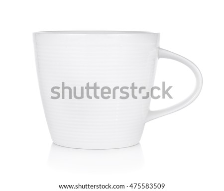 Empty coffee cup on white background