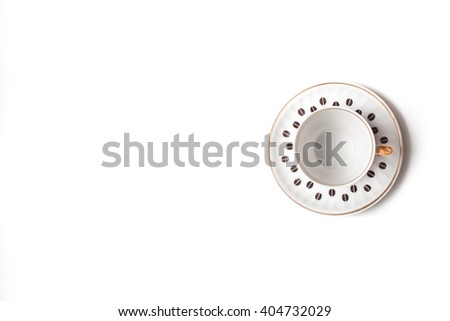 empty Coffee cup  on white background. Isolated