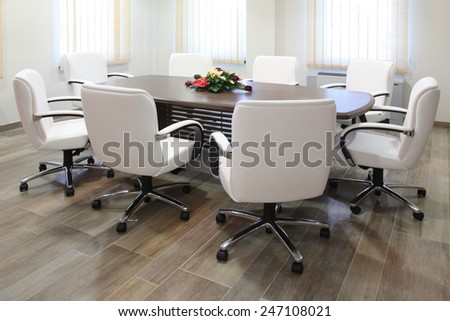 empty conference office with luxurious furniture