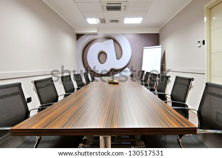 Empty conference room interior - stock photo