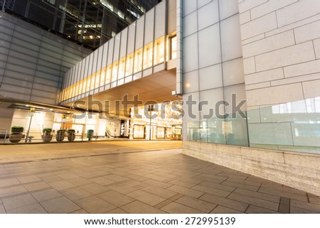 empty copy space in front of modern building exterior - stock photo