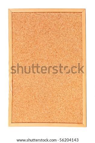 Empty cork billboard isolated on white background - stock photo