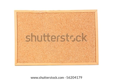Empty cork billboard isolated on white background