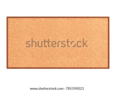 Empty Cork Board Noticeboard Isolated On Stock Illustration ...