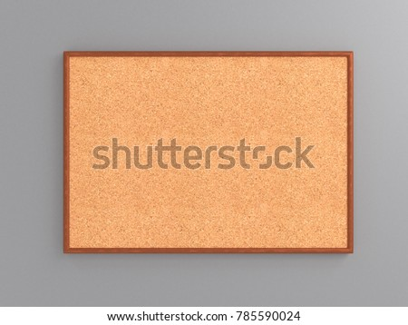 Empty Cork Board Noticeboard On Gray Stock Illustration 785590024 ...