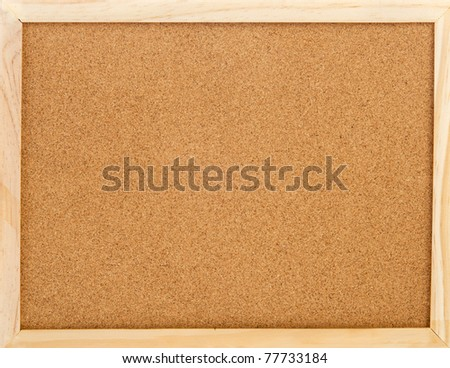 empty cork memo board with wooden frame - stock photo
