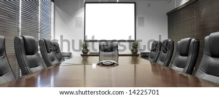 Empty Corporate Conference Room - stock photo