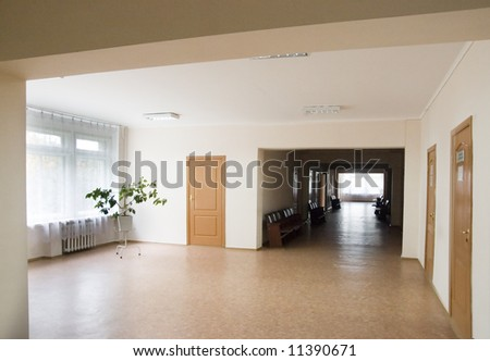 empty corridor - stock photo