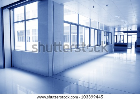 empty corridor in the  hospital. - stock photo