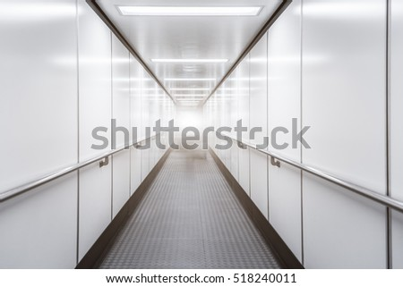 Empty Corridor Of modern airport in Shenzhen,China.