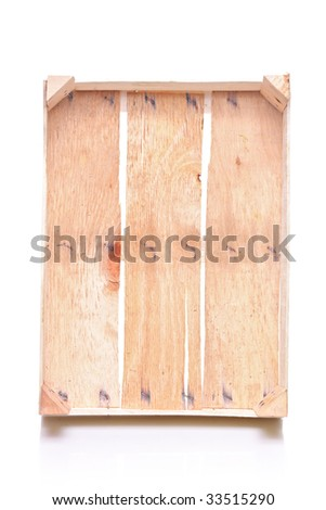 Empty crate isolated on white background