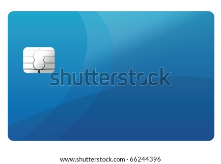 Empty credit card template - stock photo
