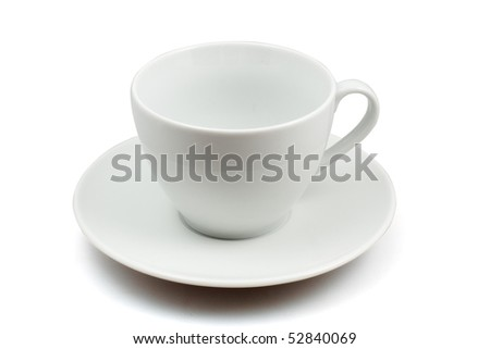 empty cup  isolated on white with clipping path - stock photo