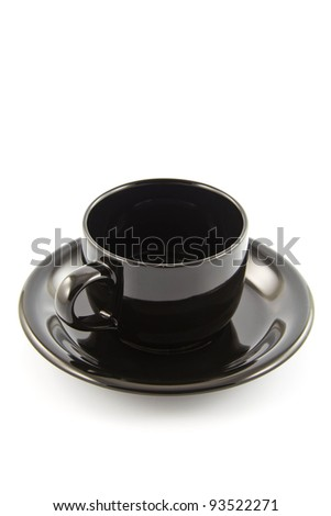 empty cup of coffee on background