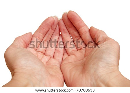 empty cupped hands - stock photo