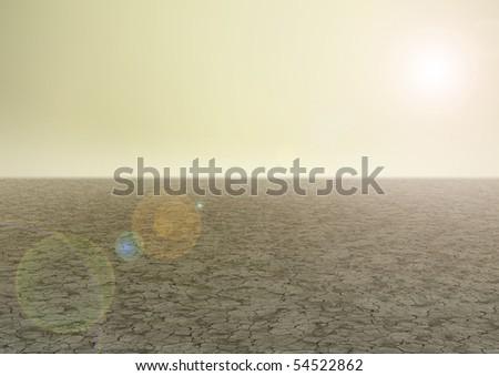 Empty desolate landscape - stock photo