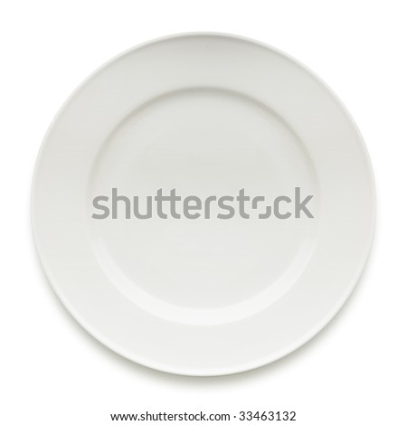 empty dinner plate isolated on white