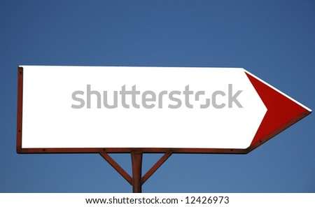 Empty direction sign - stock photo