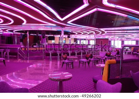 Empty disco - stock photo