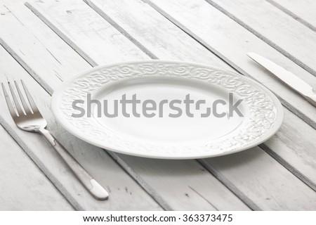 empty dish/empty dish - stock photo