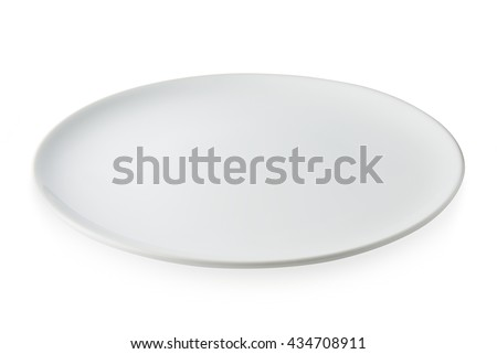 Empty Dish, Empty Dish isolated on white background, Empty Dish Background. This has clipping path. - stock photo