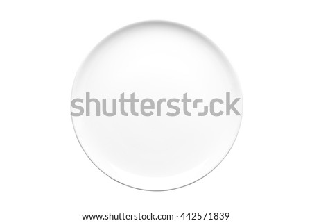Empty Dish isolated on white background. This has clipping path. - stock photo