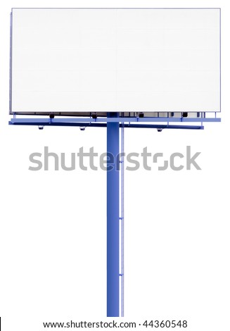 Empty display isolated on white background and clipping path inside