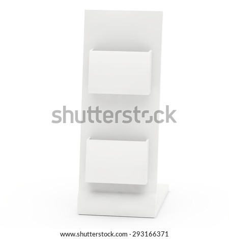 empty display with pockets for advertizing production - stock photo