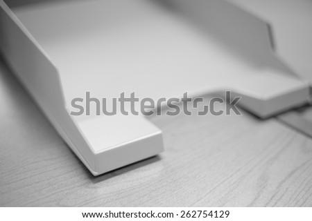 Empty document tray - stock photo