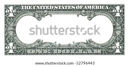 empty dollar - stock photo