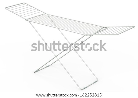Empty drying rack, 3D rendered illustration. - stock photo