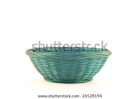 Empty easter basket isolated on white. Place for text.