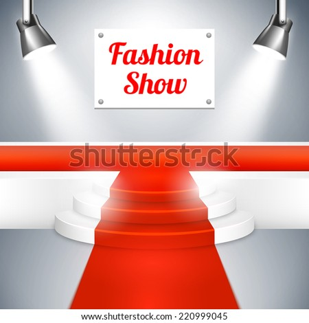 Empty Fashion Show  - stock photo