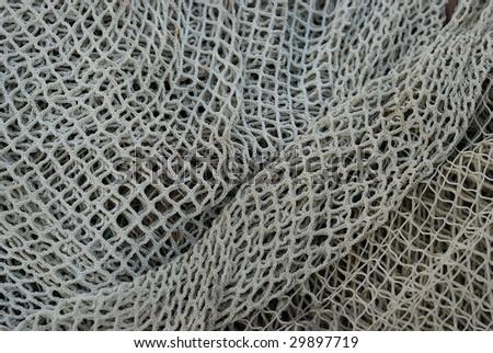 empty fish net - stock photo