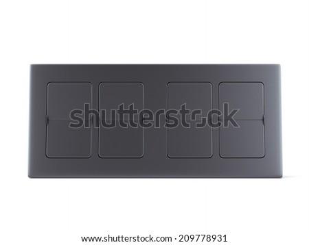 Empty Flip clock  - stock photo