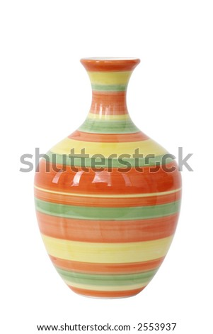 Empty flower vase with circles - stock photo
