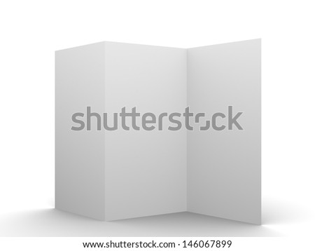 Empty flyer mockup display your flyer design in the blank space 3d illustration - stock photo