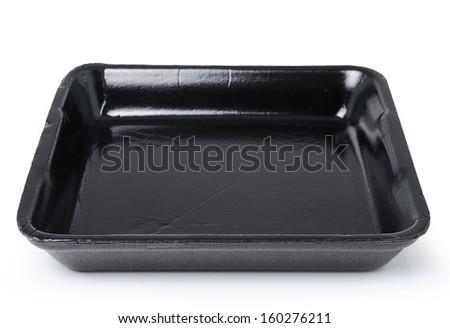 Empty foam food container - stock photo